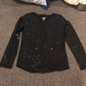Cat and Jack sparkle long sleeve T-shirt NWOT